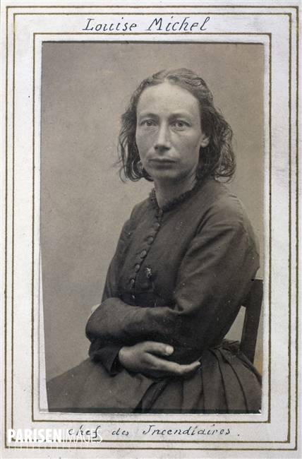 Album de photographies anti-communard. Louise Michel, chef des incendiaires, 1871. Photographie d'Ernest Charles Eugène Appert (1830-1891). Paris, musée Carnavalet.